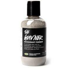 Lush The Guv'ner. $10 no aluminum antiperspirant - also claims to be great for feet/shoes