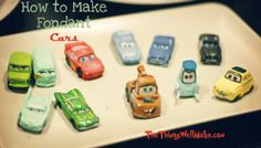 Disney-Pixar Cars Party: Part How to make Fondant Cars for your Cake Bug Birthday Cakes, Cars Birthday Parties, Car Birthday, Birthday Ideas, Cake Decorating Classes, Cake Decorating Tutorials, Cupcakes Decorating, Fondant Flower Cake, Fondant Cakes