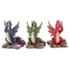 3-Piece-See-Hear-Speak-No-Evil-Dragon-Figurines-Figures-FREE-SHIPPING