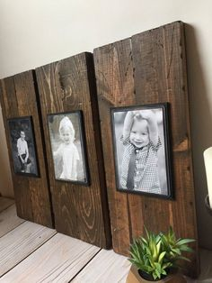 Rustic Picture Frames, Picture Frame Sets, Picture On Wood, Diy Picture Frames On The Wall, Rustic Frames, Picture Frame Decor, Hanging Picture Frames, Picture Photo, Homemade Picture Frames