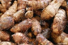 """Download the royalty-free photo """"The group of tasty taro at the food street market in Taipei, Taiwan."""" created by phasuthorn at the lowest price on Fotolia.com. Browse our cheap image bank online to find the perfect stock photo for your marketing projects!"""
