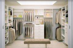 Looking to design a walk-in closet in your home? Let California Closets design a premium closet solution that matches your style, storage needs and budget. Organizing Walk In Closet, Ikea Closet Organizer, Closet Organization, Closet Storage, Organization Ideas, Storage Ideas, Closet Shelving, Storage Solutions, Wardrobe Storage