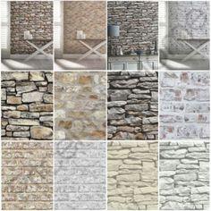Arthouse Rustic Stone Effect Wallpaper - Brick, Morrocan Wall, Cornish Stone House Cladding, Wall Cladding, Brick And Stone, Faux Stone, White Wash Walls, Stone Wall Design, Built In Bunks, Rustic Stone, Stone Houses