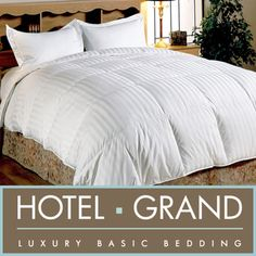 Hotel Grand Oversized 500 Thread Count Medium Warmth Siberian White Down Comforter | Bring luxury to your bed with this #bestseller