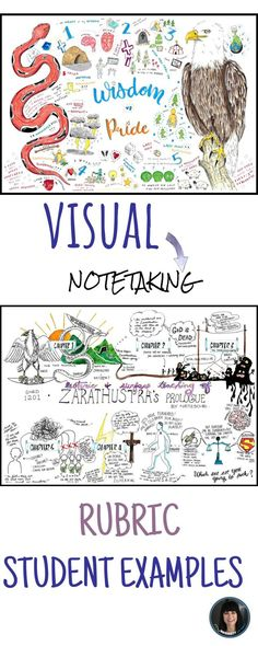 Visual Notetaking - rubric and student examples!  Click here to see more!