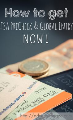 Save time for a small fee. Find out more about TSA Precheck and Global Entry today.
