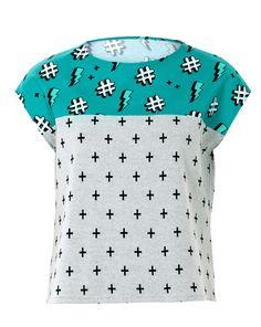 43d7236d1cb25d Schnittmuster · Top · Step by Step Nähanleitung · Das süße Shirt mit leicht  überschrittenen Schultern