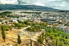 View from Acropolis. Athens, Greece.