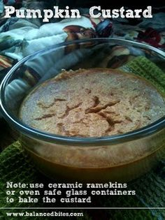 Pumpkin Custard and more of the best paleo pumpkin recipes on MyNaturalFamily.com #paleo #pumpkin #recipe