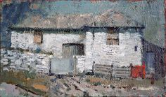 Andrew Douglas Forbes, an exceptional and popular Welsh artist. Kyffin Williams, Irish Cottage, Irish Art, A Level Art, Secret Places, North Wales, Paintings I Love, Welsh, Painters
