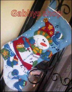 Bota muñeco de nieve bucilla