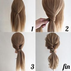 24 Wonderful And Easy Ponytail Hairstyles Tutorials - Bafbouf - - Easy hairstyles - Wedding Hairstyles Ponytail Hairstyles Tutorial, Pretty Hairstyles, Straight Hairstyles, Braided Hairstyles, Simple Ponytail Hairstyles, Hairstyle Ideas, Hairstyle Tutorials, Ponytail Easy, Easy Work Hairstyles