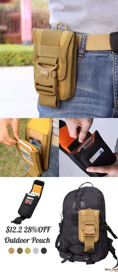 Men Tactical Molle Pouch Outdoor EDC Utility Gadget Belt Waist Bag with 6 Inch Cell Phone Holder Zombie Apocalypse Kit, Diy Cat Tent, Materiel Camping, Bushcraft Kit, Molle Pouches, Chest Rig, Family Tent, Best Pocket Knife, Tactical Gear