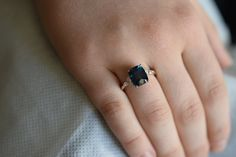 Trillium Engagement ring by Eidelprecious. Green Sapphire Engagement Ring, Diamond Engagement Rings, Cushion Ring, Pear Diamond, Diamond Settings, Anniversary Rings, Wedding Bands, Blue Green, White Gold