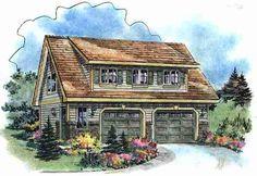 Craftsman Elevation of Plan 58541