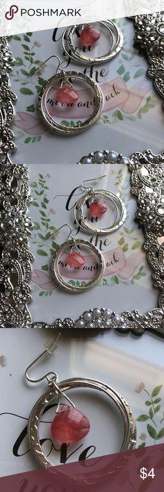 Fun pink multi stand hoop earrings Grab and go pink hoops. Lightweight. Silver and pink. Multi strand hoops. Jewelry Earrings