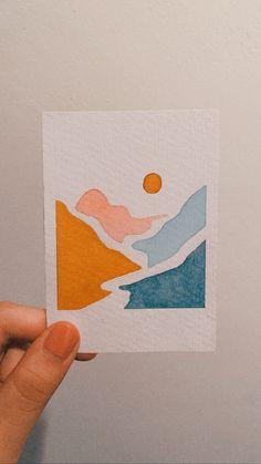 Small Canvas Art, Mini Canvas Art, Painting Inspiration, Art Inspo, Art Drawings Sketches, Watercolor Paintings, Watercolour, Painting & Drawing, Art Projects