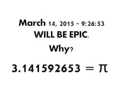 March 14 2015 = 3.14