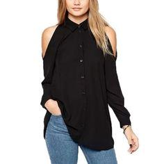 New New chiffon black blouse open solders ! ✅ make me offer Tops Blouses