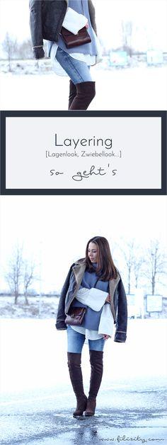 Layering, Lagenlook, Zwiebellook - Wie man es auch nennen möchte, dieser Fashion-Trend bleibt begehrt. So meistert auch ihr den Lagenlook stilsicher. #layering