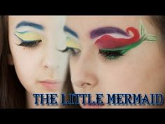 Ariel + Flounder Eye Makeup Tutorial | Courtney Little - YouTube