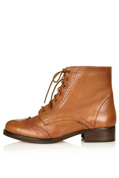733995bb0ac AMALIA Lace Up Brogue Tan Shoes