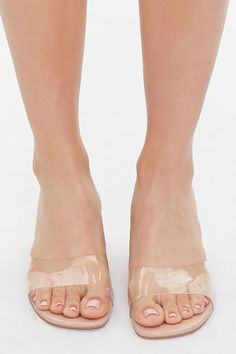 Beige Sandals, Leather Heels, Open Toe, Forever 21, Size 10, Slip On, Nude, Content, Style