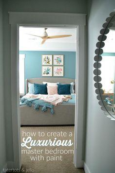 579d5ba730146a Create a Luxurious Master Bedroom using Paint — REVEAL!!  Homedecorbedroom   luxurymasterbedroomplans Bedroom