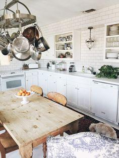 Atlantis Home interiors, Follow @Judy Aldridge   Atlantis Home on Instagram, or check out the blog at www.atlantishome.com . . #kitchen #homeinteriors #homedecor #decor #curtains #dog #puppy #white #interiors #inpso #kitcheninspo #blog