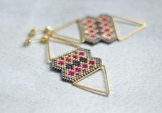 Gold Statement Earrings Boho Chic Earrings Ethnic Style