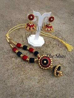To order, pls whatsapp on 94929 91857 Silk Thread Jhumkas, Silk Thread Bangles Design, Silk Thread Necklace, Silk Bangles, Beaded Necklace Patterns, Thread Jewellery, Jewelry Patterns, Beaded Jewelry, Beaded Bracelets