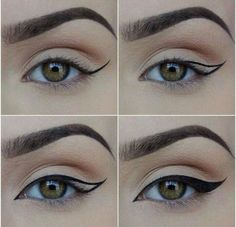 How to Apply Eyeliner. Eyeliner can help make your eyes stand out or look bigger, and it can even change their shape. Even if you've never worn eyeliner before, all it takes is a little practice to take your makeup to the next level! Makeup 101, Makeup Tricks, Makeup Goals, Skin Makeup, Makeup Inspo, Makeup Inspiration, Beauty Makeup, Makeup Ideas, Makeup Style