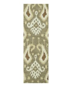 Look at this Taupe Milano Wool Runner on #zulily today!