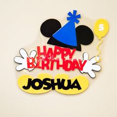 Personalized Birthday Mickey Mouse Disney Cruise Door Magnet by GulfBreezeProduction on Etsy