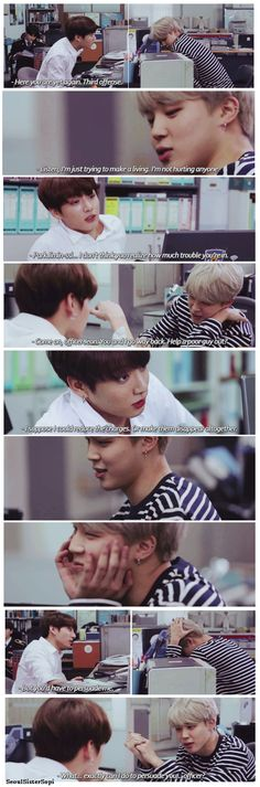 Cause of death: Jeon Jungkook speaking informally to Jimin in satoori, while being authoritative, and holding a gun.