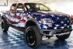 The most patriotic pickup ever built! The Patriot Raptor! #patriot #raptor #svt #america #ford #f-150 #mhford