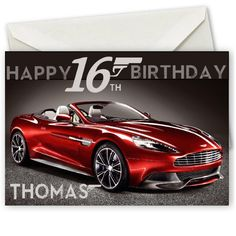 Personalised Aston Martin Birthday Card