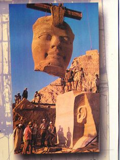 A picture in an exhibition showing how Abu Simbel was moved because of the flooding of Aswan Dam. #Egypt