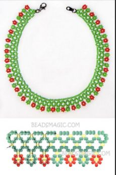 Free pattern for necklace Herbal - Best Pins Live - Free pattern for necklace Herbal – Best Pins Live Free pattern for necklace Herbal – Best Pins Live Seed Bead Bracelets Tutorials, Bead Loom Bracelets, Beading Tutorials, Diy Necklace Patterns, Bead Loom Patterns, Beading Patterns, Beaded Jewelry Designs, Bead Jewellery, Seed Bead Jewelry