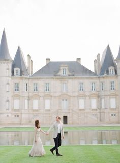 For photos that exude elegance, try staging them at a stately setting. These two took a stroll at Château Pichon Baron in Pauillac, France. Fall Engagement, Engagement Shoots, France Photography, Wedding Photography, Urban Setting, Modern Romance, French Chateau, South Of France, The Great Outdoors