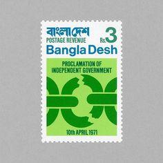 1971 Independence - Broken Chain. Bangladesh, 1971. Design: Biman Mullick. http://grafiktrafik.tumblr.com