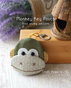 Free sewing pattern of Ba Nana Monkey Key Pouch, Key Cozy, Key Holder. Template & detailed instructions including steps photos for easy understanding. A must sew Monkey Key Pouch for those love monkey. Great as handmade gift or for your own use. – Page 2 of 2