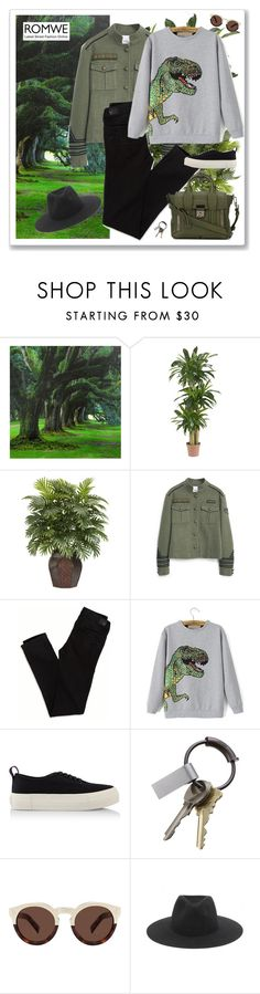 """Esplora"" by alessandramongi ❤ liked on Polyvore featuring moda, Nearly Natural, MANGO, American Eagle Outfitters, Eytys, CB2, Illesteva, rag & bone, 3.1 Phillip Lim y romwe"