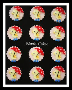 Gender neutral baby shower cupcake toppers