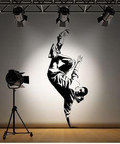 Break dance wall decal