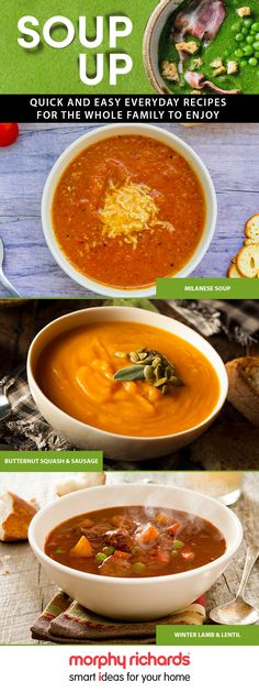 Soup up every day meals and enjoy quality time with the family this autumn. Cook quick and easy healthy soup recipes that are extremely purse friendly. Get the recipes on the Morphy Richards blog!