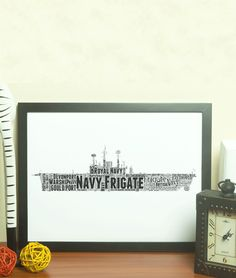 Add all your own words to this Royal Navy Frigate Ship Word Art Print. Makes a very special gift or present for a serving or retiring matelow. This design is Type 23 Frigate, Frigate Ship, Type 45 Destroyer, Royal Navy Frigates, Personalised Prints, Navy Ships, Word Art, Special Gifts, Dates