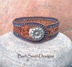 Design your own photo charms compatible with your pandora bracelets. Blue Silver Brown Leather Beaded Wrap Cuff Bracelet - The Weavy One in Knots - Leather n' Denim Beaded Leather Wraps, Leather Cuffs, Leather Jewelry, Leather Bracelets, Leather Cord, Brown Leather, Boot Jewelry, Cowgirl Jewelry, Geek Jewelry