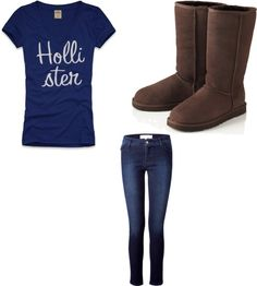"""Hollister outfit"" by trendychick78 ❤ liked on Polyvore"