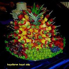 this is fresh fruit platter flowers more fruit idea fruit arrangement ...